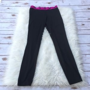 New Balance Dry Black Leggings Stretchy Sz Medium